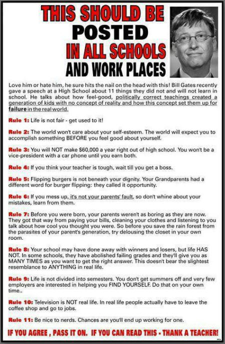 Bill Gates Workplace Rules