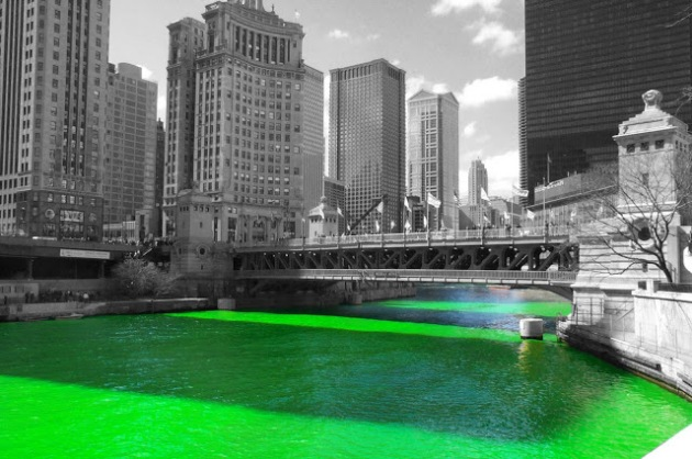 The Chicago River on St. Pat's Day