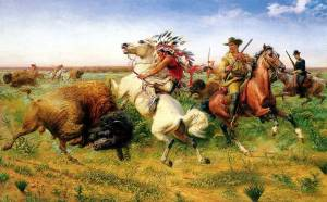 Louis_Maurer_-_The_Great_Royal_Buffalo_Hunt_-_1895