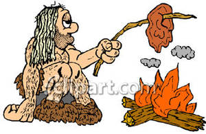 Caveman_Cooking_Over_Fire_Royalty_Free_Clipart_Picture_081102-131412-829050