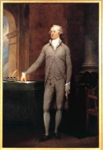 1792 John Trumbull portrait of Secretary of Treasury Alexander Hamilton