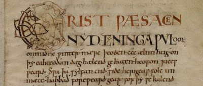 BL Cotton MS Tiberius B I, the C-text of the Anglo-Saxon Chronicle